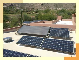 Both Solar Electric PV and Hot Water Panels